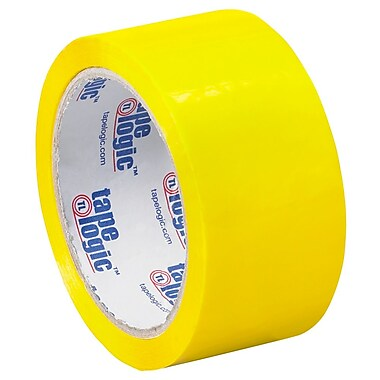 Tape Logic 2in. x 55 yds. x 2.2 mil Carton Sealing Tape, Yellow, 6/Pack