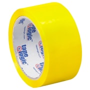 "Tape Logic 2"" x 55 yds. x 2.2 mil Carton Sealing Tape, Yellow, 6/Pack"
