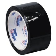 "Tape Logic 2"" x 55 yds. x 2.2 mil Carton Sealing Tape, Black, 6/Pack"