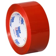 Tape Logic 2 x 110 yds. x 2.2 mil Carton Sealing Tape, Red, 6/Pack