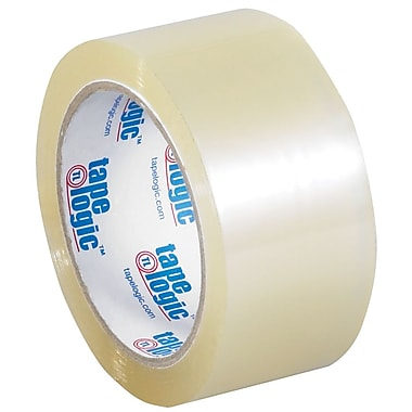 Tape Logic 2in. x 55 yds. x 2 mil Acrylic Tape, Clear, 6/Pack