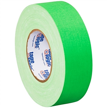 Tape Logic 2in. x 50 yds. x 11 mil Gaffers Tape, Fluorescent Green, 3/Pack