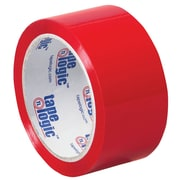 "Tape Logic 2"" x 55 yds. x 2.2 mil Carton Sealing Tape, Red, 6/Pack"