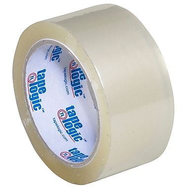 Tape Logic 2in. x 55 yds. x 2.2 mil #800 Hot Melt Tape, Clear, 6/Pack