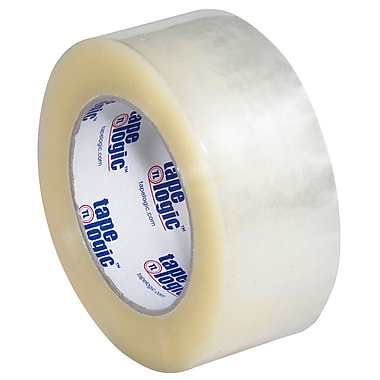 Tape Logic 110 yds. x 2in. x 2.2 mil #800 Hot Melt Adhesive Tape, Clear, 6/Pack