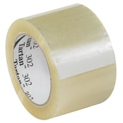 3M 3 x 110 yds. x 1.6 mil 302 Carton Sealing Tape, Clear, 6/Pack