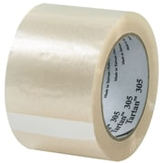 3M 3 x 110 yds. x 1.8 mil 305 Carton Sealing Tape, Clear, 6/Pack