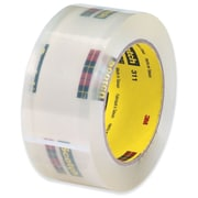 "3M 2"" x 110 yds. x 2.05 mil 311 Carton Sealing Tape, Clear 6/Pack"