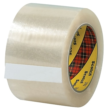3M 3in. x 110 yds. x 2.05 mil 311 Carton Sealing Tape, Clear, 6/Pack