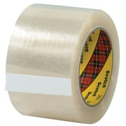 "3M 3"" x 110 yds. x 2.05 mil 311 Carton Sealing Tape, Clear, 6/Pack"