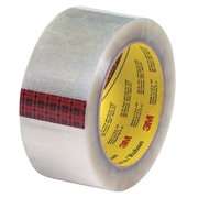 3M 2 x 55 yds. x 2.55 mil 313 Carton Sealing Tape, Clear, 6/Pack