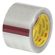 3M 3 x 55 yds. x 2.55 mil 313 Carton Sealing Tape, Clear, 6/Pack