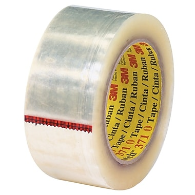 3M 2in. x 55 yds. x 1.9 mil 371 Carton Sealing Tape, Clear, 6/Pack