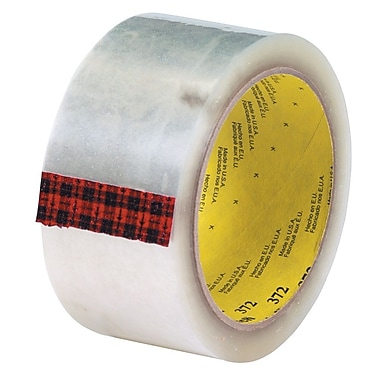 3M 2in. x 55 yds. x 2.2 mil 372 Carton Sealing Tape, Clear, 6/Pack