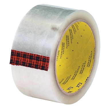 3M 2in. x 110 yds. x 2.2 mil 372 Carton Sealing Tape, Clear 6/Pack