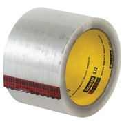 "3M 3"" x 110 yds. x 2.2 mil 372 Carton Sealing Tape, Clear, 6/Pack"