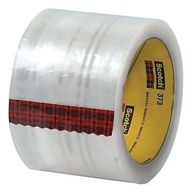 3M 3in. x 55 yds. x 2.5 mil 373 Carton Sealing Tape, Clear, 6/Pack