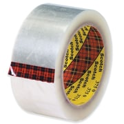 3M 2 x 55 yds. x 3.1 mil 375 Carton Sealing Tape, Clear, 6/Pack