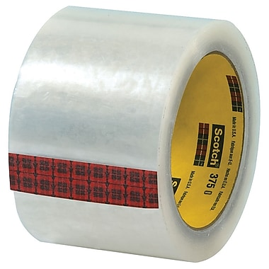 3M 3in. x 55 yds. x 3.1 mil 375 Carton Sealing Tape, Clear, 6/Pack