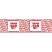 Tape Logic 3 x 110 yds. x 2.5 mil TAMPER EVIDENT Security Tape, Red/White, 6/Pack