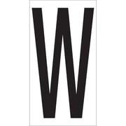 "Tape Logic 3.5""H Warehouse Letter Label W, White/Black (DL9310W)"