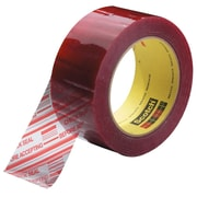 3M 2 x 110 yds. x 1.9 mil 3779 Preprinted Carton Sealing Tape, Clear 6/Pack