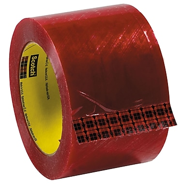 3M 3in. x 110 yds. x 1.9 mil 3779 Preprinted Carton Sealing Tape, Clear 6/Pack