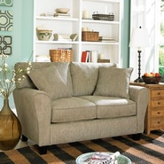 Sofab® Angel Pewter Fabric Loveseat