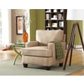Sofab® Coco Style Solid Wood/Fabric Chair, Beige