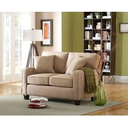 Sofab® Coco Style Solid Wood/Fabric Loveseat, Beige