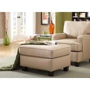 Sofab® Coco Beige Fabric Ottoman