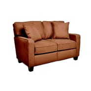 Sofab® Coco Style Solid Wood/Fabric Loveseat, Chocolate