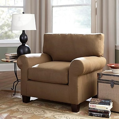 Sofab® Ladd Style Solid Wood/Fabric Chair, Kahlua