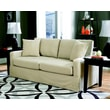 Sofab® Lily Style Solid Wood/Fabric Sofa, Ivory
