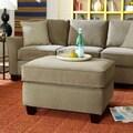 Sofab® Muse Style Fabric Ottoman, Smoke