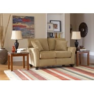 Sofab® Shag Style Solid Wood/Fabric Loveseat, Prairie