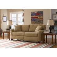 Sofab® Shag Style Solid Wood/Fabric Sofa, Prairie