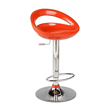 Euro Style™ Agnes Molded ABS Plastic Bar/Counter Stool, Orange