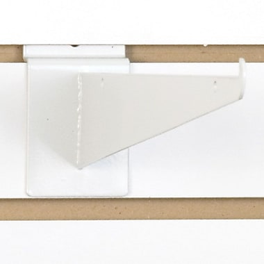 Slatwall Shelf Bracket, White, 12