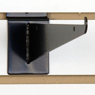 Slatwall Shelf Bracket, Black, 10