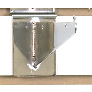Slatwall Shelf Bracket, Chrome, 6