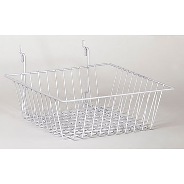 Wire Basket, White, 12in. X 12in. X 4in.