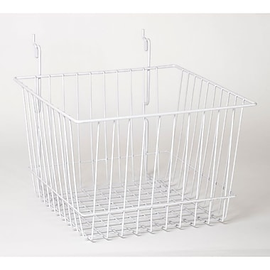 Wire Basket, White, 12in. X 12in. X 8in.