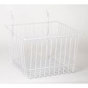 Wire Basket, White, 12 X 12 X 8