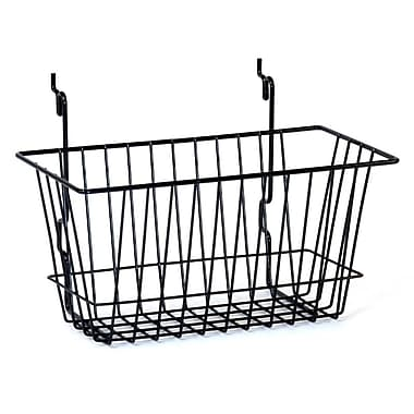 Wire Basket, Black, 12in. X 6in. X 6in.