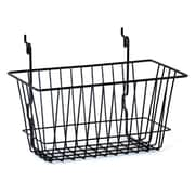 "Wire Basket, Black, 12"" X 6"" X 6"""