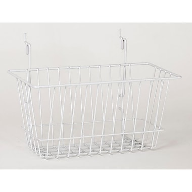 Wire Basket, White, 12in. X 6in. X 6in.