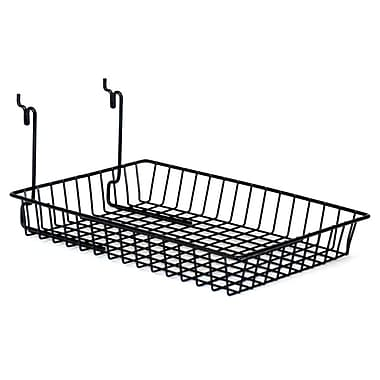Wire Basket, Black, 10in. X 14in. X 2in.