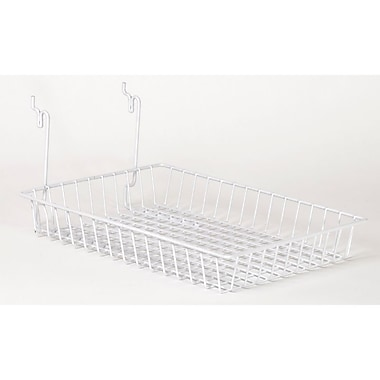 Wire Basket, White, 10in. X 14in. X 2in.