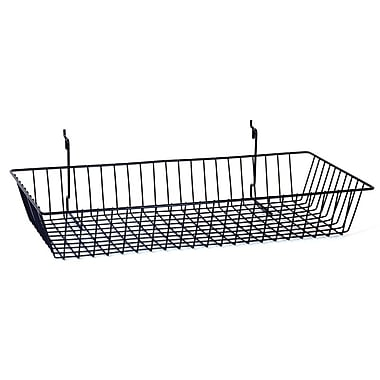 Wire Basket, Black, 24in. X 12in. X 4in.